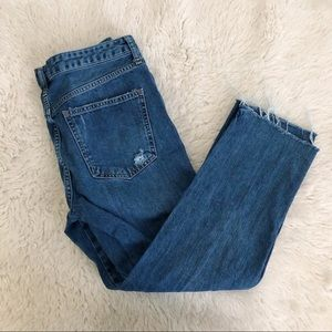 Free People Straight Leg Button Fly Jeans Size 28